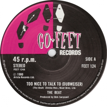 Beat, The - Too Nice To Talk To (Dubweiser) / Psychedelic Rockers (Dubweiser) - 12