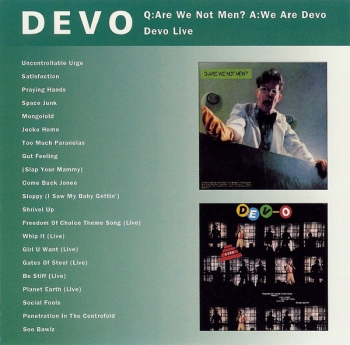 Devo - Q:Are We Not Men ? A:We Are Devo / Devo Live - CD