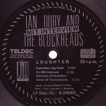 Dury, Ian & The Blockheads - Laughter - 7