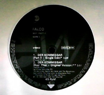 Falco - Der Kommissar (Part II - Club Mix) / (Part II - Single Edit) / (Original Version) - 12
