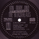 Dury, Ian & The Blockheads - Laughter - 7""