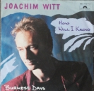 Witt, Joachim - How Will I Know / Burmese Days - 7""